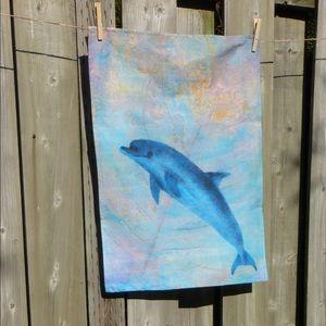 Tea towels, handmade,  marine inspired, New